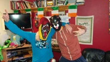 My two French friends in our hostel in Galway