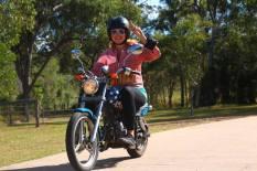 On my sexy Harley Davidson!! ;)