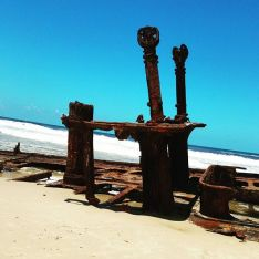 Shipwreck SS Maheno, that landed on the Island in 1935.