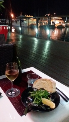 Tasty food at Cairn's harbour