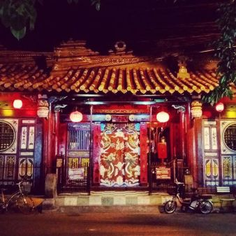 The whole town in Ninh Binh is decorated with